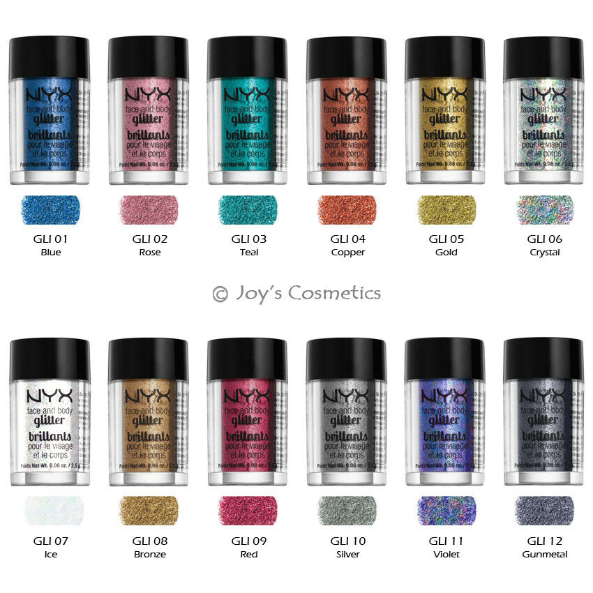 6 NYX Glitter Powder Face & Body Pigment