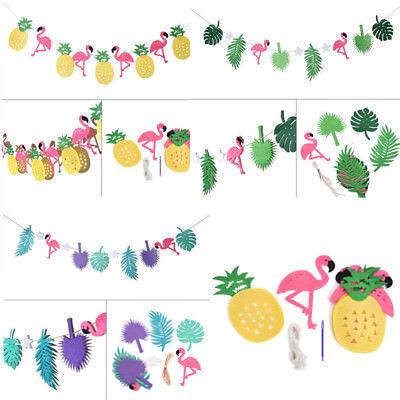 Hawaiian Tropical Flamingo Pineapple Summer Party Decor Banner Garland Bunting (Flamingo Decorations)