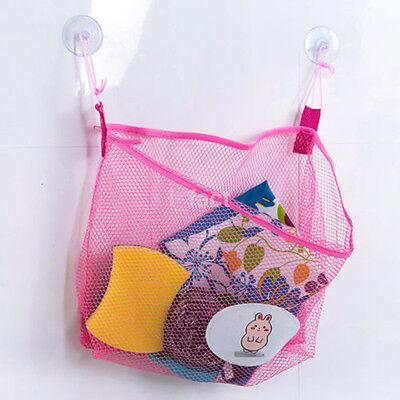 Cute Suction Cup Hanging Baby Kids Goods Toy Bathroom Net Mesh Organiser Bag CA