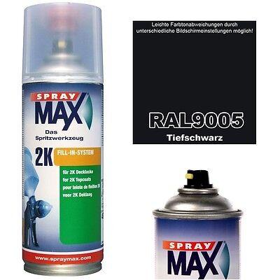 Spraydose 2K Glänzend RAL 9005 TIEFSCHWARZ Farben Lackspray Spraylack Acryllack