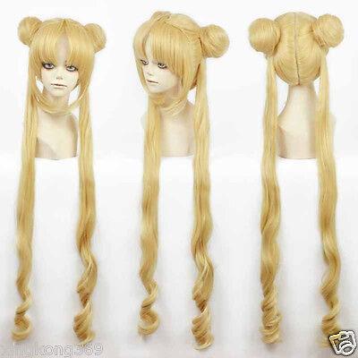 3Girl Sailor Moon Cosplay Costumes Wig Tsukino Usagi And Princess Serenity wig - Sailor Moon Costume Wig
