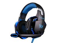 Pro Gaming Headphones with mic blue light