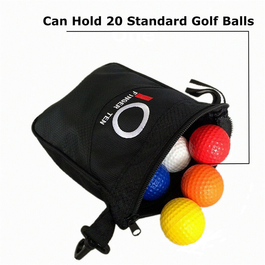381a92605a3a Golf Valuables Pouch Hold Balls Black Storage Zipper Bag Players ...