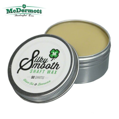 1 Tin of McDermott Silky Smooth Shaft Wax For Your Pool Cue.