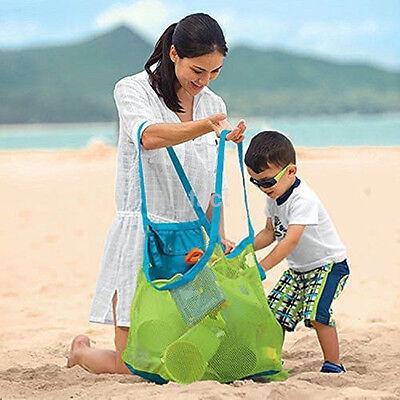 High Quality Folding Children Beach Mesh Toys Storage Bag Sand Away Bags  US