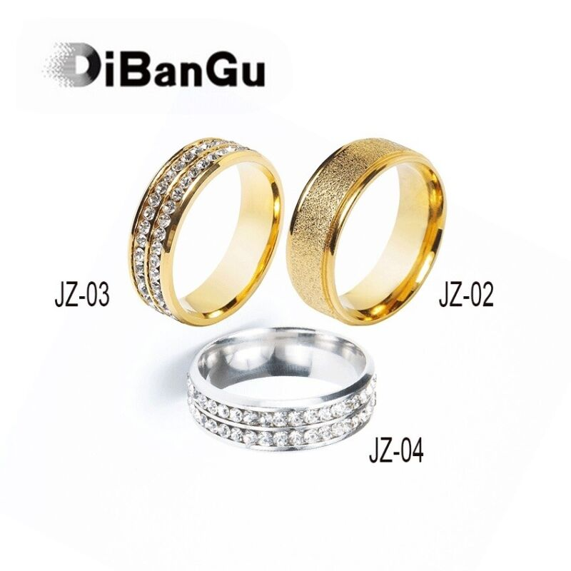DiBanGu Three Styles Mens Tie Ring Metal Crystal Wedding Ties Ring For Necktie