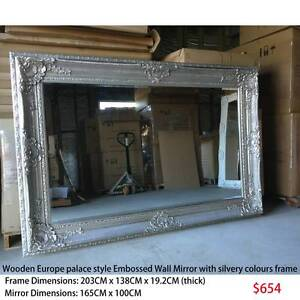 Large wooden wall mirror Europe palace style Embossed from $202