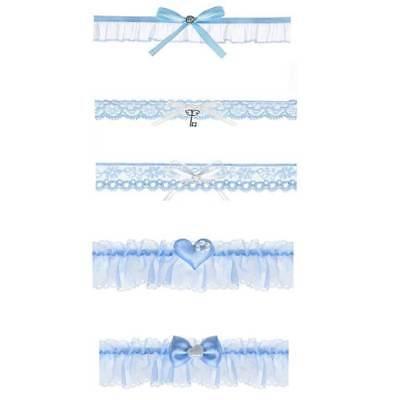 Strumpfband Dessous (Strumpfband himmelblau Hochzeit Braut Accessoires Brauch Dessous NEU)