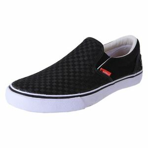 Airwalk-Mens-Canvas-Casual-Slip-On-Shoes-Sneaker-Axel-Black