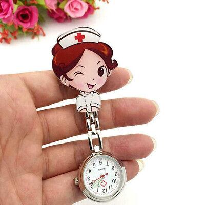 Cartoon Pocket Nurse Watch Fobwatch Clip-on Fob Tunic Medical Brooch (Nurse Clip Watch)