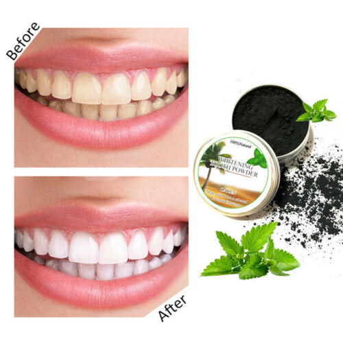 HOT Activated Charcoal Teeth Whitening Powder Coconut cleansing Tooth Powder 15g