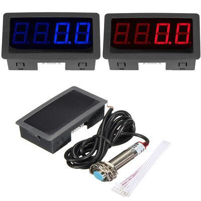 New 4 Digital Led Tachometer Rpm Speed Motor Car Meter Proximity Switch Sensor