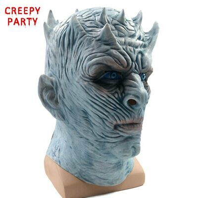 Game Of Thrones White Walker King (Game of Thrones GOT Night King Mask White Walker Walkers Halloween Latex)