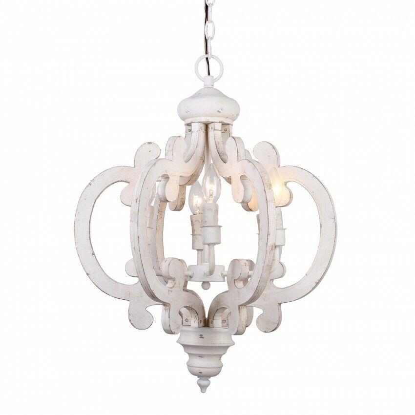 antique wooden chandelier farmhouse distressed ceiling light