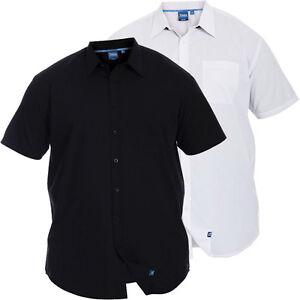 D555-da-uomo-di-marca-misura-king-casual-elegante-manica-corta-camicie