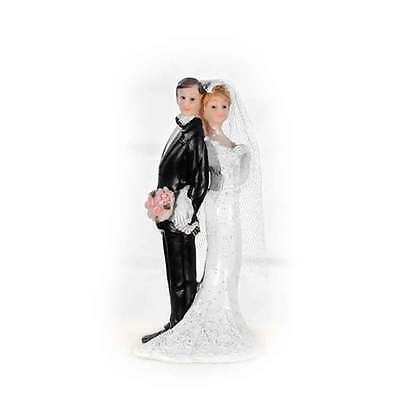 Dekofigur 11cm Brautpaar Hochzeits Figur romantisch elegant stilvolle Erinnerung