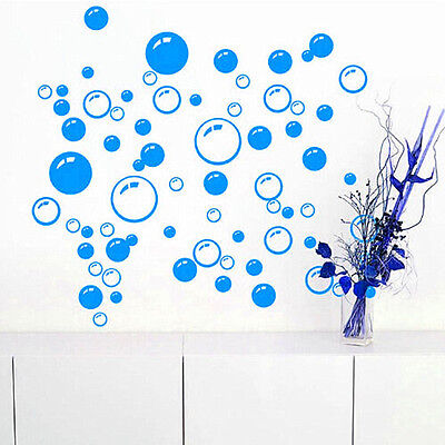 Cute Bathroom Bath Bubble Wall Sticker Waterproof Glass Window Sticker Decal CA