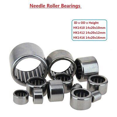 Drawn Cup Needle Roller Bearings Hk1410 Hk1412 Hk1416 Bearing Steel