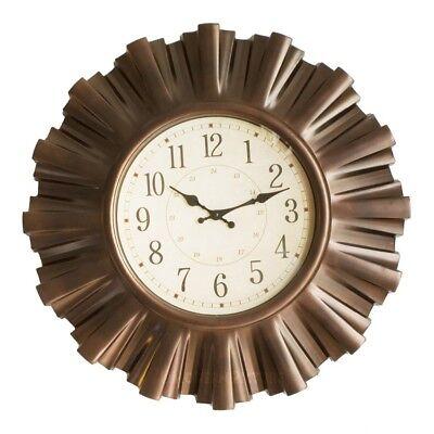 Bronze Große Wand (Wanduhr Uhr Retro groß in Bronzeoptik Durchmesser 58 cm)