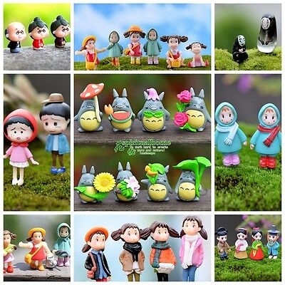 Miniature Fairy Garden Terrarium Figurine Ornament Bonsai DIY Craft Various Set