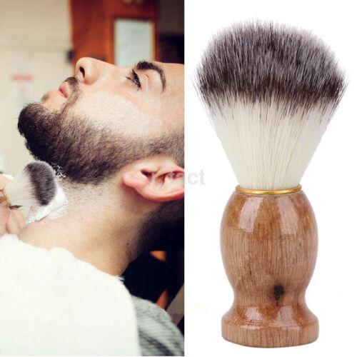 Men Shaving Bear Brush Badger Hair Shave Mini Wood Handle Razor Barber Tool 1PC