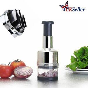Kitchen Stainless Vegetable Garlic Onion Slicer Pressing Chopper Cutter Food ZM