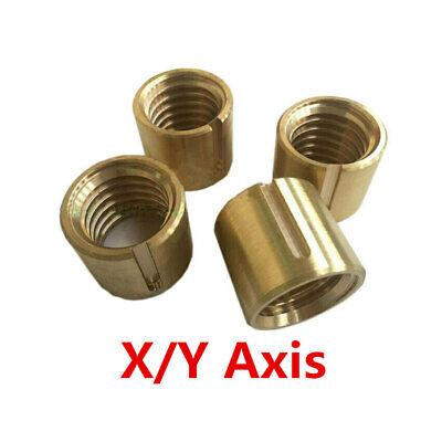 2x Bridgeport Milling Machine Brass Cross Feed Copper Nut Yx Axis Cnc Mill Tools