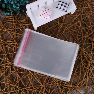 100pcs Opp Clear Plastic Bag Packaging Poly Self Adhesive Jewelry Gift Bags Set