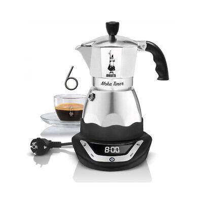 Bialetti moka timer 6 Tazas Cafetera Espresso Eléctrico 220V