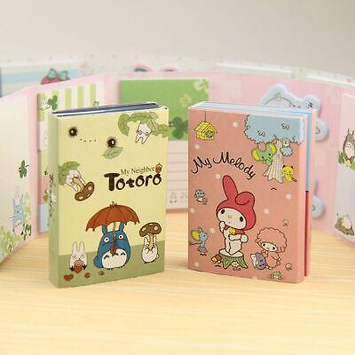Folding Memo Pad Sticky Notes Kawaii Totoro Melody Bookmark Gift Stationery 1pcs