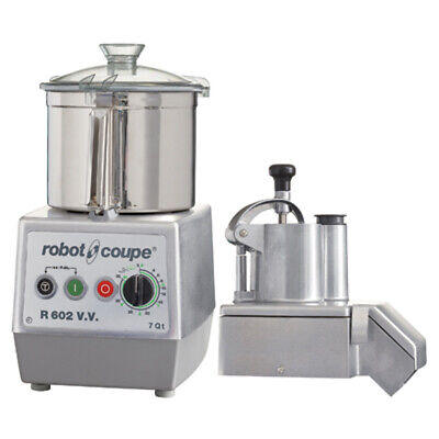 Robot Coupe R602vv Combination Continuous Feed Food Processor With 7 Qt.