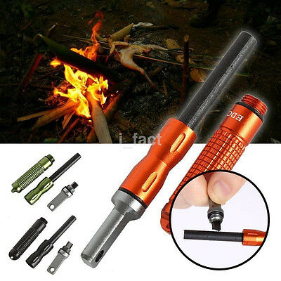 Simple Outdoor EDC Magnesium Bar Flint Fire Starter Waterproof Survival Camp Kit