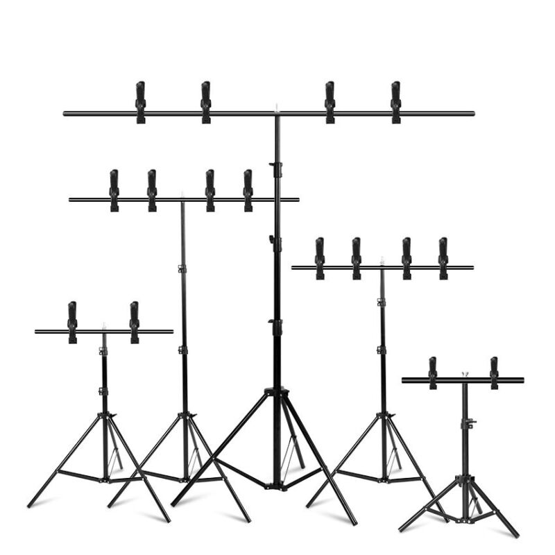 T-shape Photography Adjustable Backdrop Support Stand Background Kit w/ Crossbar