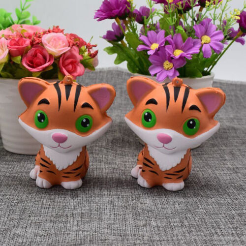 Tiger Squishy Slow Rising Cartoon Doll Scented Press Animal Toy 9CM Hot! US