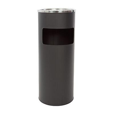 30 l. Standaschenbecher + Eimer Aschenbecher Müllleimer Ascher 60x25 cm schwarz