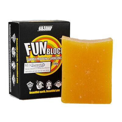 B&SOAP Fun Block Shampoo Bar for Washing Hair NO POO Style Hair & Scalp Care