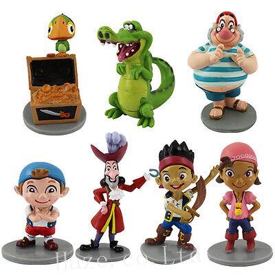 7PCS/Set Jake And The Neverland Pirates PVC Figure Figurine Toy Dolls