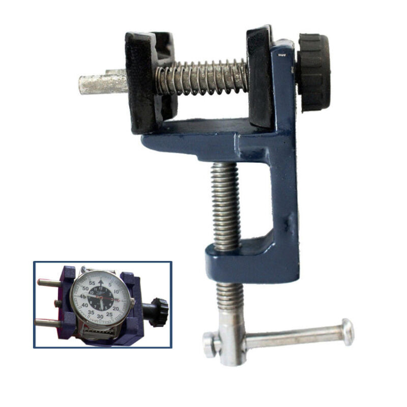 WATCH CASE ALUMINUM HOLDER W/ CLAMP JEWELRY WATCHMAKERS BENCH VISE REPAIR TOOL