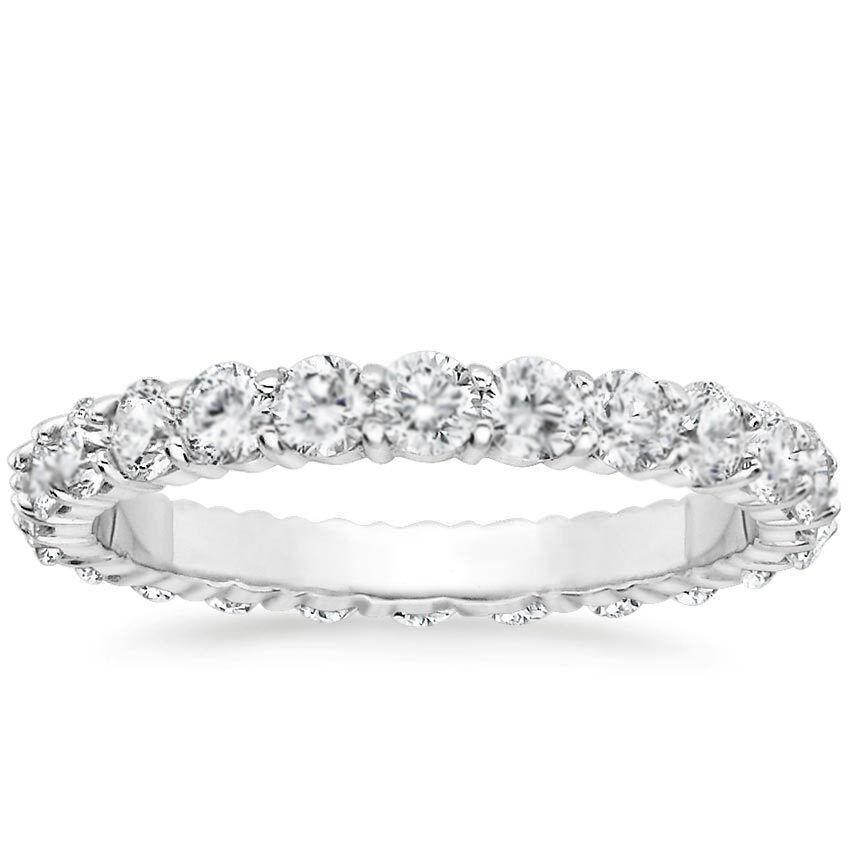 1 CARAT Round Natural Diamond Eternity Wedding Band 14k Whit