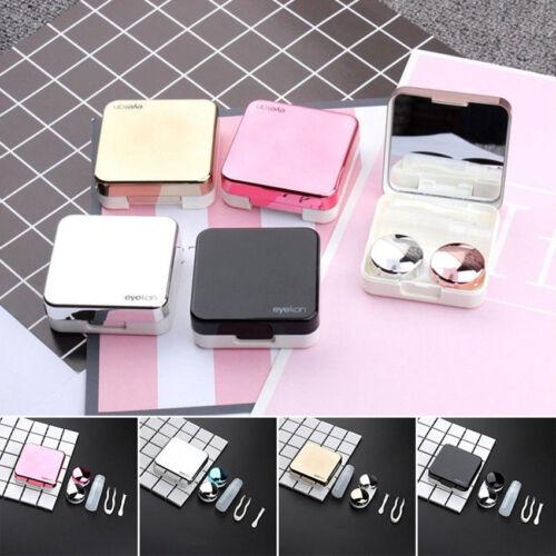 Suitable Contact Lens Portable Mini Plastic Travel Storage Soaking Box Case Set