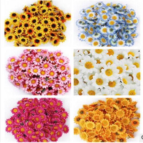 10x Cute Artificial Silk Sun Flower Small Chrysanthemum Daisy Home Floral Décor