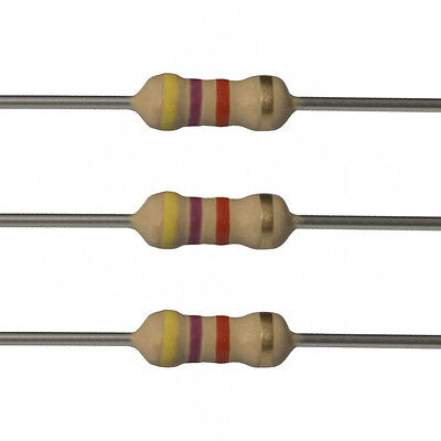100 X 4.7k Ohm Carbon Film Resistors - 14 Watt - 5 - 4k7 - Fast Usa Shipping