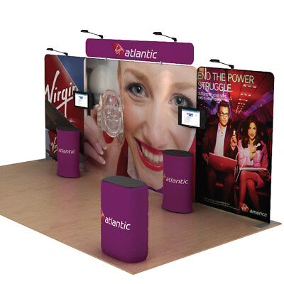 20ft Protable Fabric Booth Trade Show Display Pop Up Banner Stand Sets 1