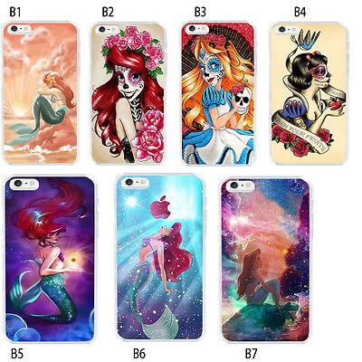 Ariel the Little Mermaid Princess Tattoo Soft TPU Case For iPhone 6S 7 8 Plus XS - Tattoo Princess