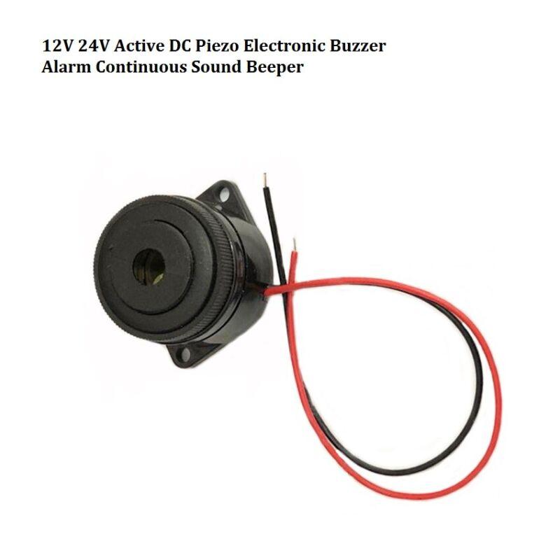 12V 24V Active DC Piezo Electronic Buzzer Alarm Continuous Sound Beeper