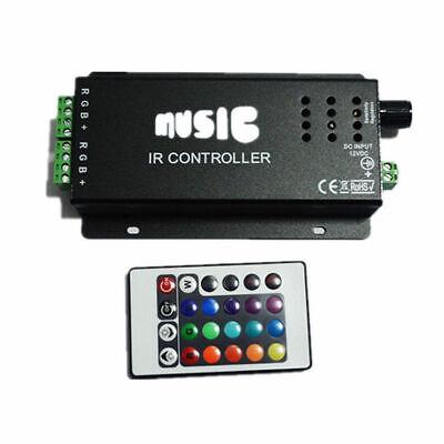 24KEY Music IR Remote Controller Sound Sensitive for RGB LED Strip Light 12V](Sound Sensitive Led Lights)