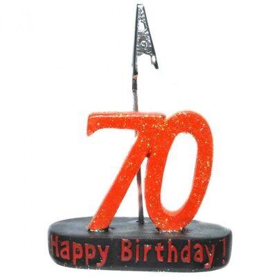 Kartenhalter Geburtstagszahl 70 Tischdeko Dekoration zum 70. Geburtstag Party