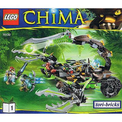 Lego Chima Scorpion Stinger mit Bauanleitung, ohne Figuren aus 70132