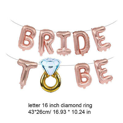 16 Inch Bride To Be Foil Letter Balloon Banner Bachelorette Wedding Party Decor (Bride To Be Banner)