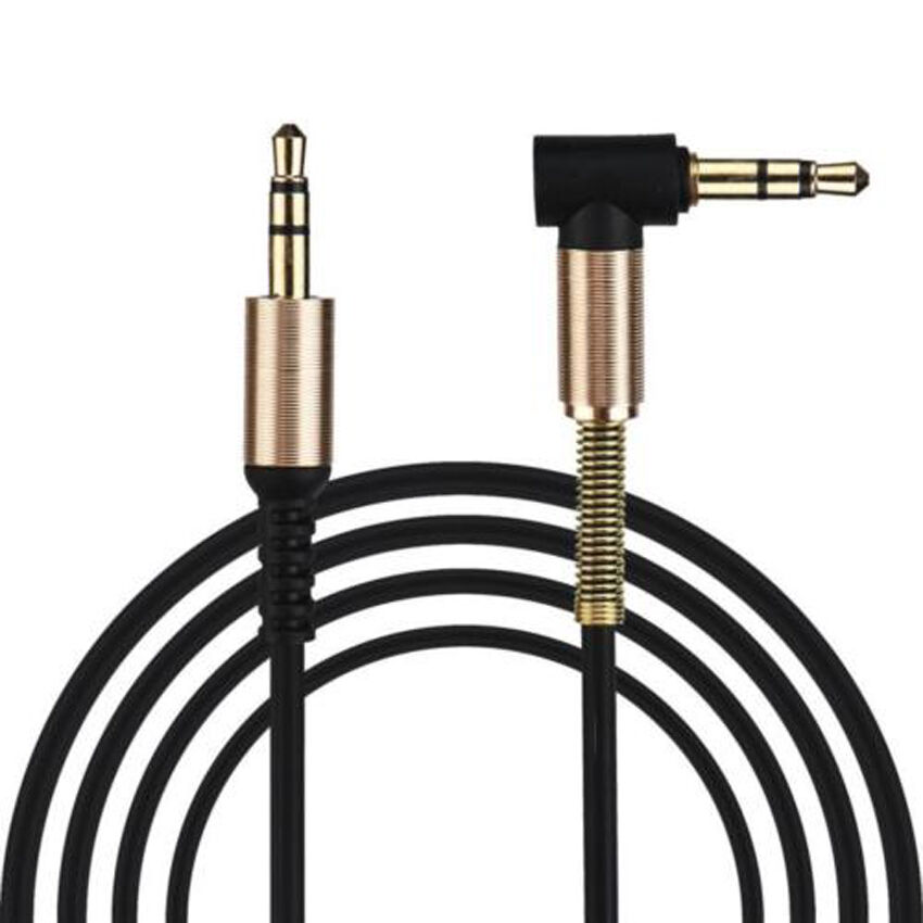 3.5mm Male to Male Car Aux 90 Degree Cord Right Angle Audio Cable For Phone MP4